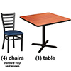 High Ladder Back Chair and Table Combo Deal - Designer Vinyl Seats