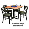 Ladder Back Chair and Table Combo Deal - (4) Chairs 008-015 with Standard Vinyl Seat, (1) Table