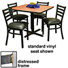 Ladder Back Chair and Table Combo Deal - (4) Chairs 008-017 with Standard Vinyl Seat, (1) Table