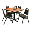"Economy Chair and Table Combo Deal - (4) Stack Chairs, (1) 42""x42"" Table"