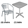 Aluminum Chair and Table Combo Deal