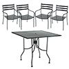 "Tremont Outdoor Chair and 30"" Table Set"