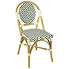 "G&A Seating 808 Aluminum and Bamboo Outdoor Restaurant Side Chair 18""H Seat, 17""Wx20""Dx34""H"