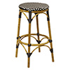 "Outdoor Metal Backless Bar Stool Aluminum and Bamboo, 30""H Seat, 15-1/2""Wx15-1/2""Dx30""H"