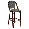 "G and A Seating 809 Outdoor Bar Stool - Aluminum and Bamboo, 17""Wx22""Dx45""H"