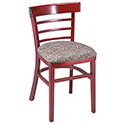 "G&A Seating 1105 Ladderback Chair, 18"" Seat Height"