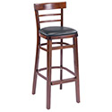 """G&A Seating 1105-30 Ladderback Bar Stool, 31"""" Seat Height"""