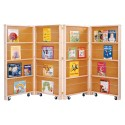 Jonti-Craft 0267JC Mobile Library Bookcase - 4 Sections