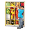 Jonti-Craft 0268JCWW007 Rainbow Accents 4 Section Coat Locker - Yellow