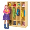 Jonti-Craft 0268JC 4 Section Coat Locker