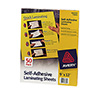 "Avery 365475 - 9 x 12"" Laminating Sheets, 50ct"