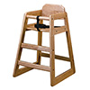 Economy Wood High Chair - Natural Finish