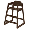 Economy Wood High Chair - Walnut Finish