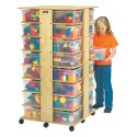 Jonti-Craft 0354JC 32 Tub Tower - with Colored Tubs