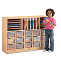Jonti-Craft 0415JC011 MapleWave Sectional Cubbie-Tray Mobile Unit - without Trays