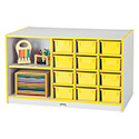 Jonti-Craft 0441JC005 Rainbow Accents Mobile Storage Island - without Trays - Teal