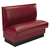 """Plain Back Upholstered Booth Single Booth - 36""""H"""