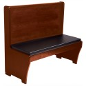 "American Tables and Seating AWS-48 Basic Booth with Seat Pad Only, Single, 23""D, 18"" Seat Height"