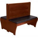 "American Tables and Seating AWD-48 Basic Booth with Seat Pad Only, Double, 38""D, 18"" Seat Height"