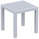 Compamia ISP066-SIL Ocean Square Resin Side Table Silver Gray, EA of 1/EA