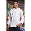 Knotted Button Chef Coat - Standard Poly/Cotton, Size XXL