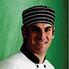 JRC Ritz 0156C-0100 Chef's Beanie with Elastic Back, Cotton Twill