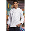 Knotted Button Chef Coat - Premium Twill, Size XL
