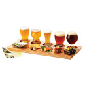 Olive Wood 3 Well Beer and Food Flight