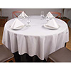 "Permalux Cotton Blend Table Linens - 87"" Round Tablecloth"