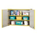 Jonti-Craft 0945JC005 Rainbow Accents Lockable Wall Cabinet - Teal