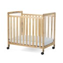 Foundations 1632040 Crib, Compact Fixed-Side, W/ Adjustable Mattress Board, Clearview