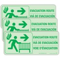 Foundations 1963006 Evacuation Route Sign Kit (3 Signs W/ Protocol)