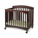 """Foundations 1134852 Compact Royale Easyroll Folding Fixed-Side Crib, Slatted W/ 4"""" Casters"""