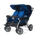 Foundations 4140037 The Lx4 4-Passenger / Dual Canopy Folding Stroller