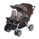 Foundations 4140167 The Lx4 4-Passenger / Dual Canopy Folding Stroller