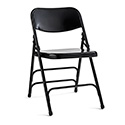 Samsonite 49751-1041 2700 Series Commercial Grade Steel Folding Chair - Black