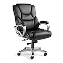 Samsonite 51836-1041 Hamburg Big and Tall Premium Bonded Leather Chair, Black