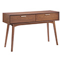 Zuo Modern 100093 Design District Console Table, Walnut
