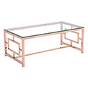 Zuo Modern 100184 Geranium Coffee Table, Rose Gold