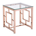 Zuo Modern 100186 Geranium Side Table, Rose Gold