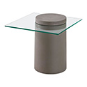Zuo Modern 100194 Monolith Side Table, Cement