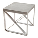 Zuo Modern 100204 Paragon Side Table, Cement