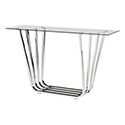 Zuo Modern 100328 Fan Console Table, Chrome