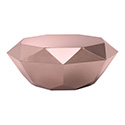 Zuo Modern 100345 Gem Coffee Table, Rose Gold