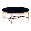 Zuo Modern 100347 Elite Coffee Table, Rose Gold & Black