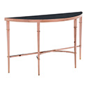 Zuo Modern 100348 Elite Console Table, Rose Gold & Black