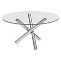Zuo Modern 100352 Stant Round Dining Table, Chrome