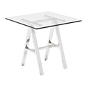 Zuo Modern 100359 Lado Side Table, Chrome