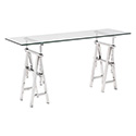 Zuo Modern 100360 Lado Console Table, Chrome