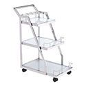 Zuo Modern 100367 Acropolis Serving Cart, Stainless Steel